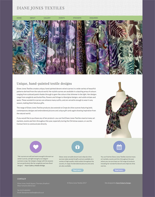 Diane Jones Textiles - Home Page