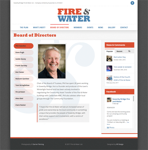 Fire & Water Ltd. - Directors