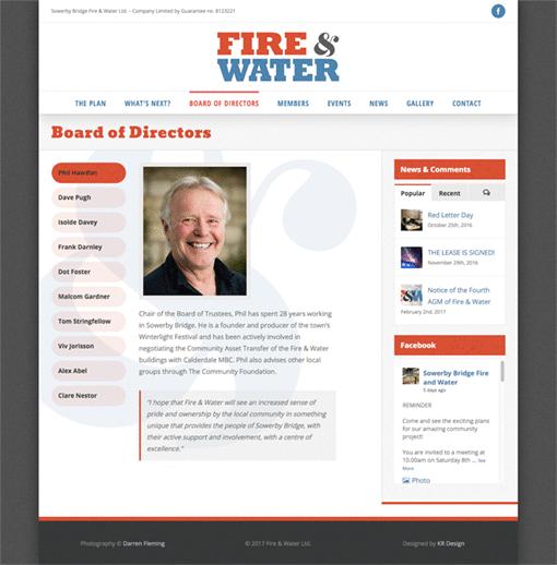 Fire & Water Ltd. - Directors