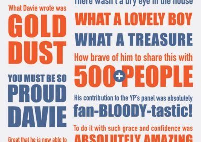 davie's tyopgraphic poster
